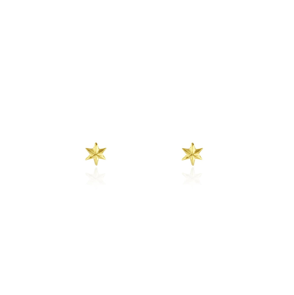Micro star studs gold