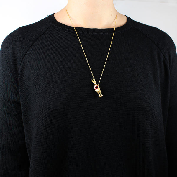 Stolen Heart Bunny Necklace Gold