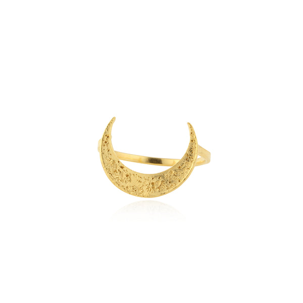 Crescent moon ring Gold