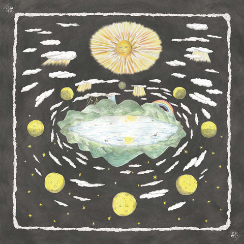 Sun, moon, and stars Silk Scarf