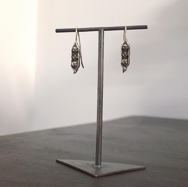 Pea Brothers Earrings Silver
