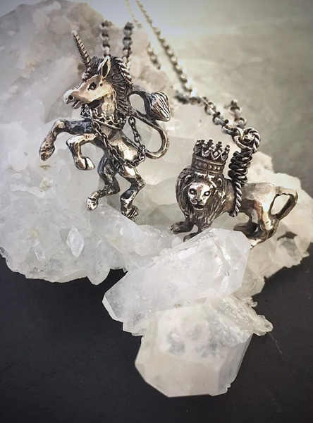 British Lion Necklace Silver