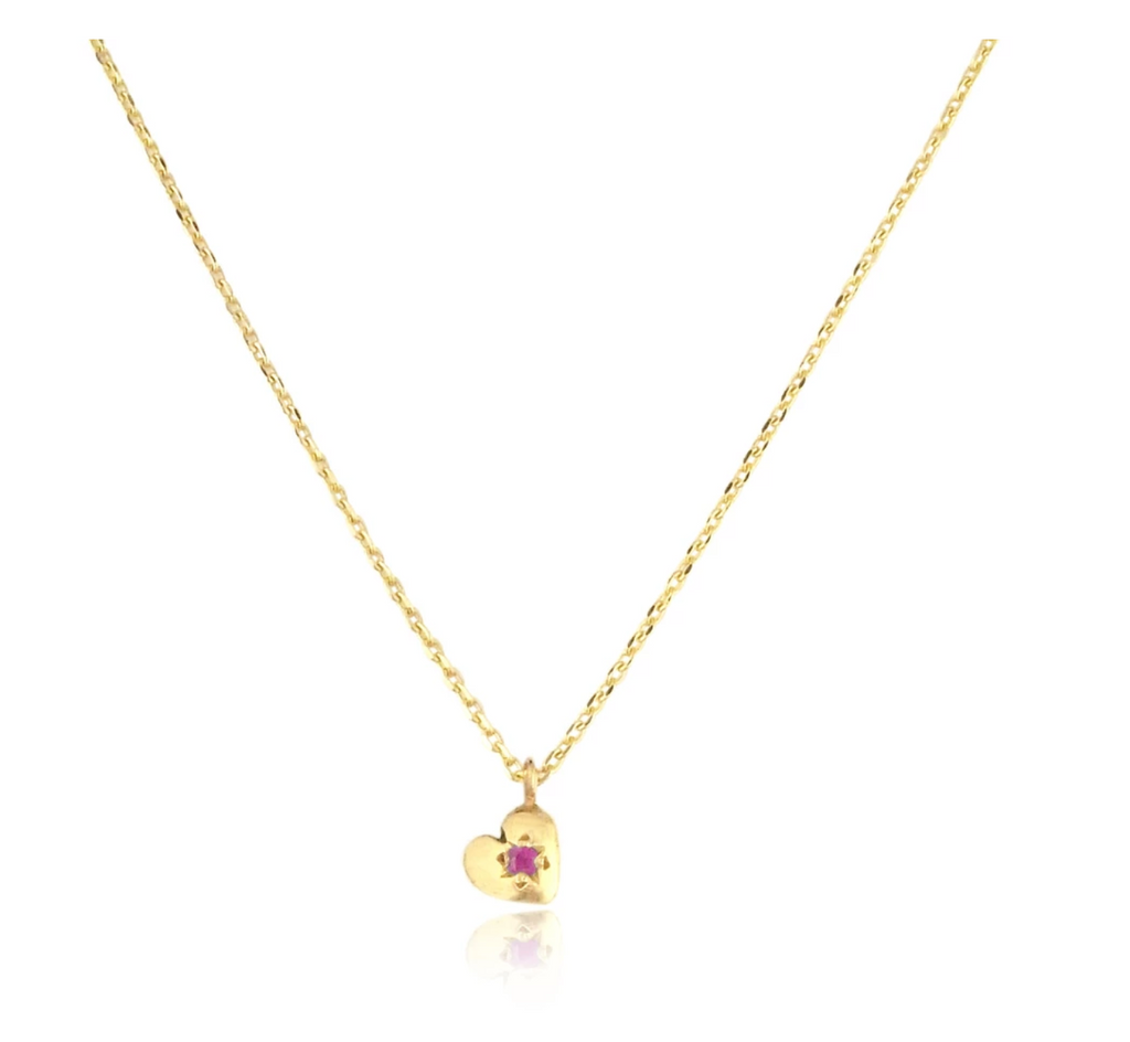 Tiny heart necklace 18k gold