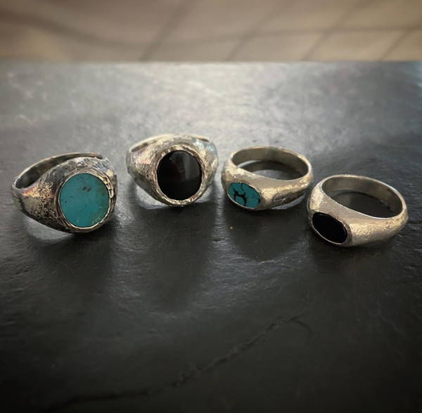 Rustic Bloodstone Signet Ring