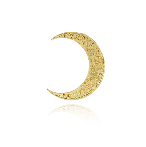 Crescent moon earrings gold vermeil