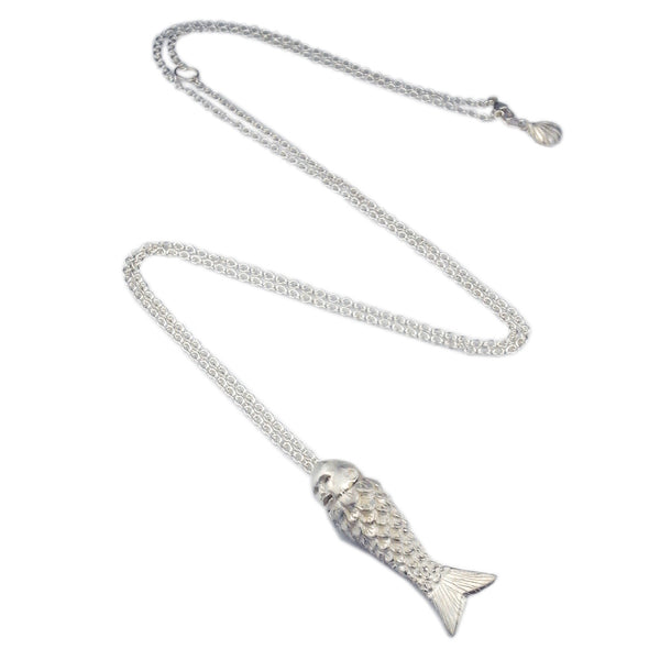 Baby Mermaid Necklace Silver Product Shot Sub