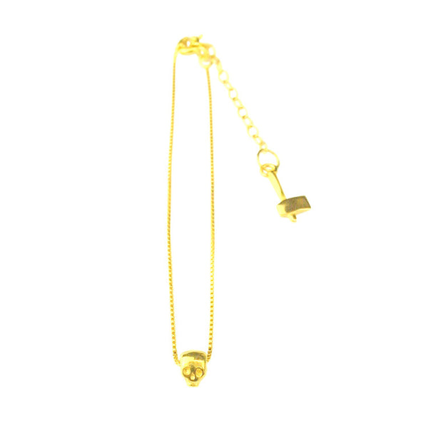 MOMOCREATURA Baby Skull Bracelet Gold Product Shot