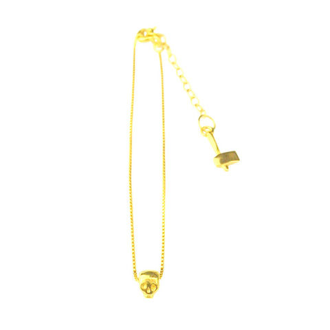 Baby Skull Bracelet Gold Product Shot