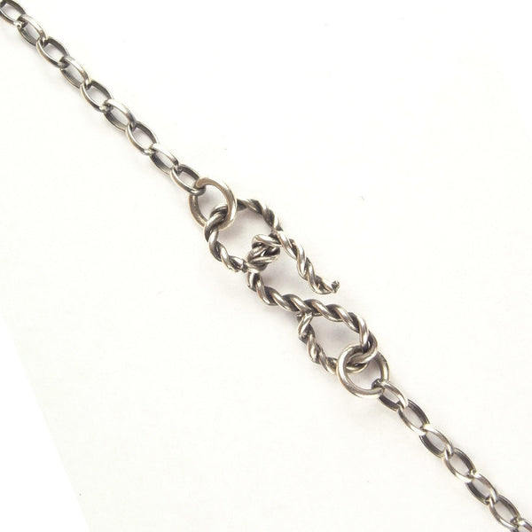 Handcuffed Bear Necklace Silver Clasp Detail