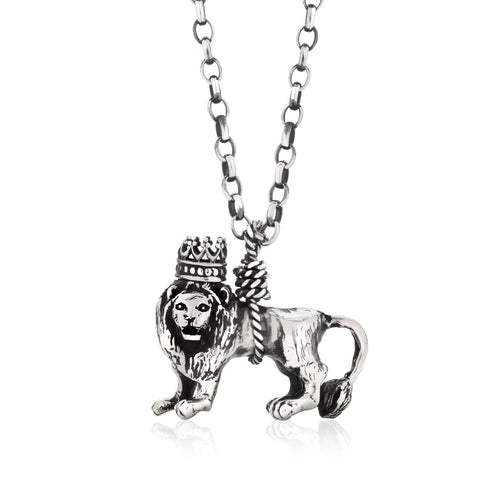 British Lion Necklace Silver Product Shot