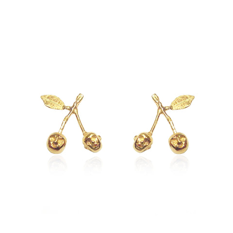 Cherry Brothers Earrings Gold