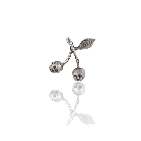 Cherry Brothers Earrings Silver Product Shot Sub