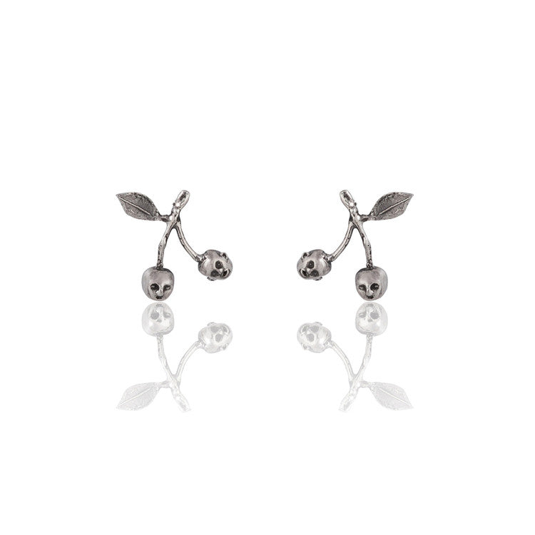 Cherry Brothers Earrings Silver Product Shot Main