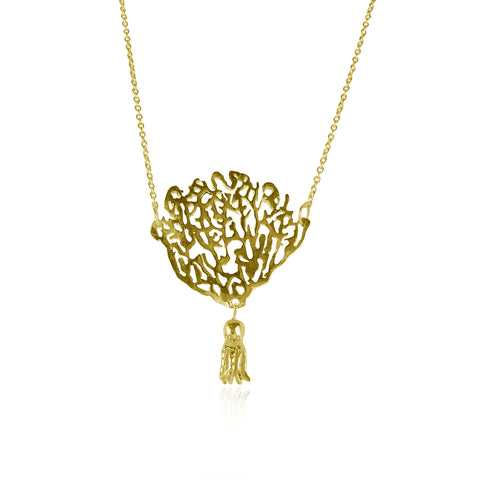 Coral & Octopus Necklace Gold