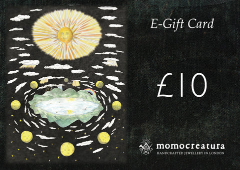 E-Gift Card (Printable)  / Sun, moon, and stars