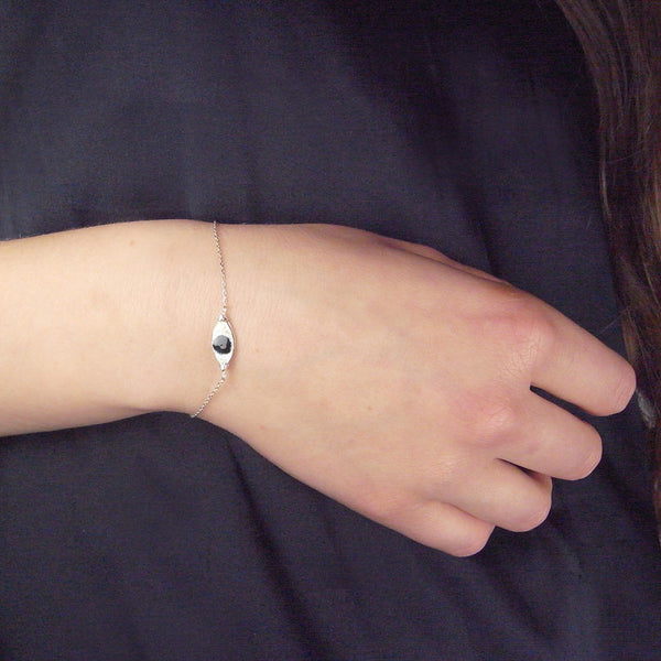 Enamel Eye Bracelet on Model