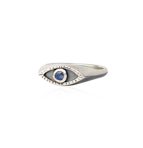 Eye signet ring Silver x Moonstone