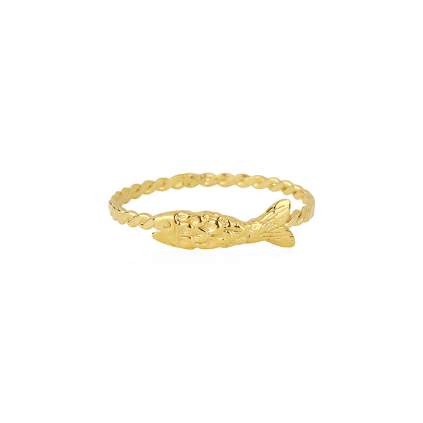 Micro Fish Ring Gold
