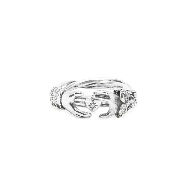 Fede Gimmel Heart Ring