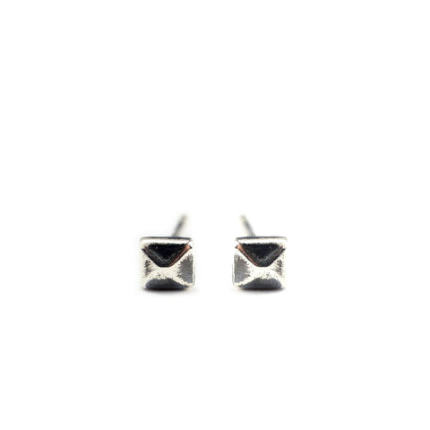 Micro Stud Earrings Silver Product Shot
