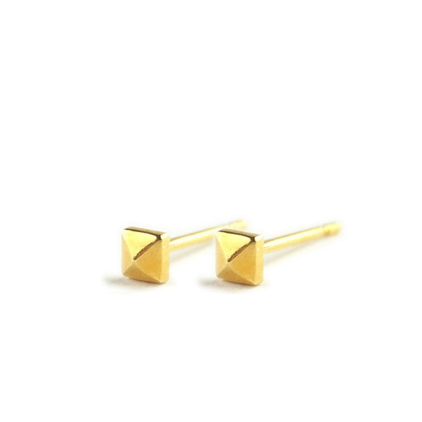 Micro Studs Earrings Gold Product Shot