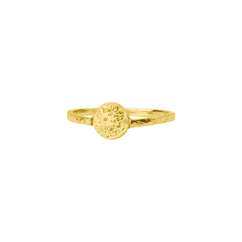 Mini moon disc ring gold