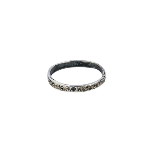 Moon crater ring 2mm silver