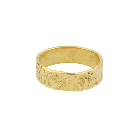 Moon crater ring 6mm gold