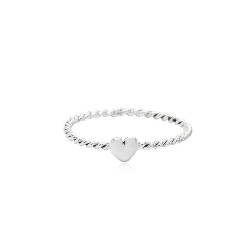 Tiny Heart Ring Silver