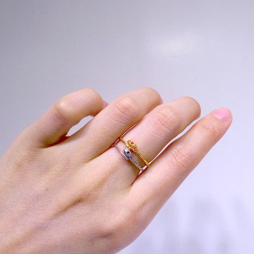 Tiny Snake Rings on Model