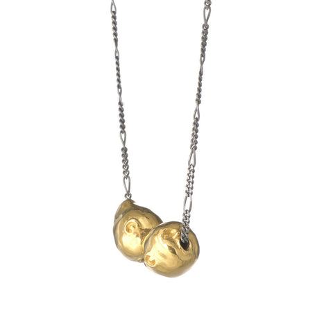 Spirit Of Love Double Pendant Gold