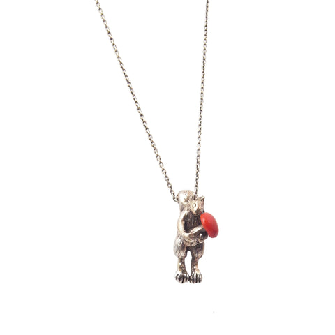 Squirrel and Toadstool necklace