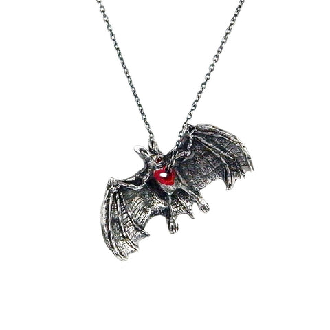Stolen Heart Bat Necklace Silver Product Shot Main