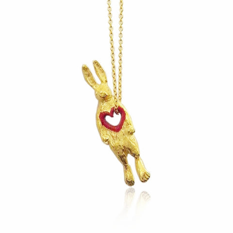 Stolen Heart Bunny Necklace Gold Product Shot Main