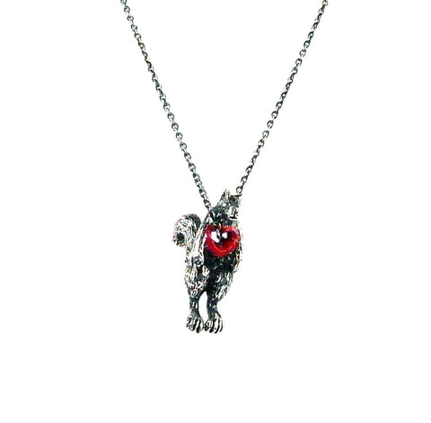 Stolen Heart Squirrel Necklace Silver Product Shot Main