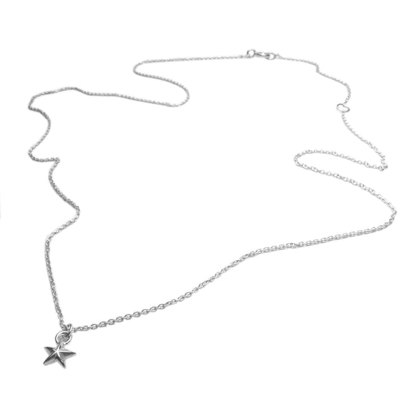 Tiny Star Necklace Silver