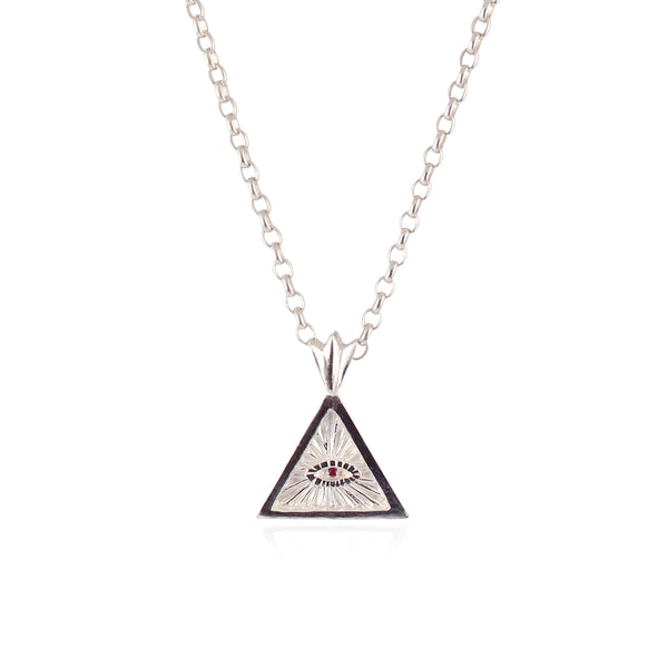 Triangle eye necklace