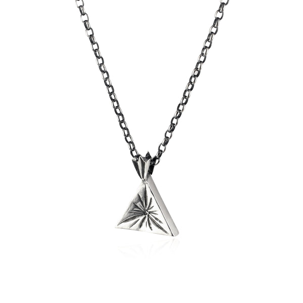 Triangle star necklace