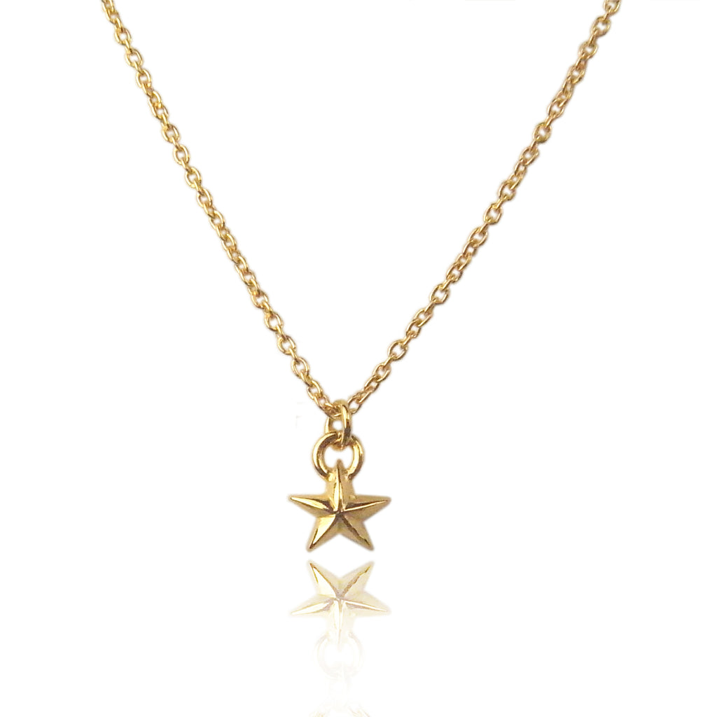 Tiny Star Necklace Gold