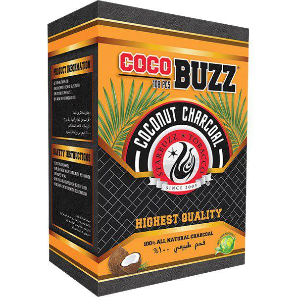 Starbuzz Cocobuzz 1.0 Natural Coconut Shisha Charcoal 108pcs FLATS