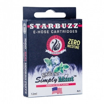 Starbuzz E-Hose Cartridge Simply Mint - shishagear london uk