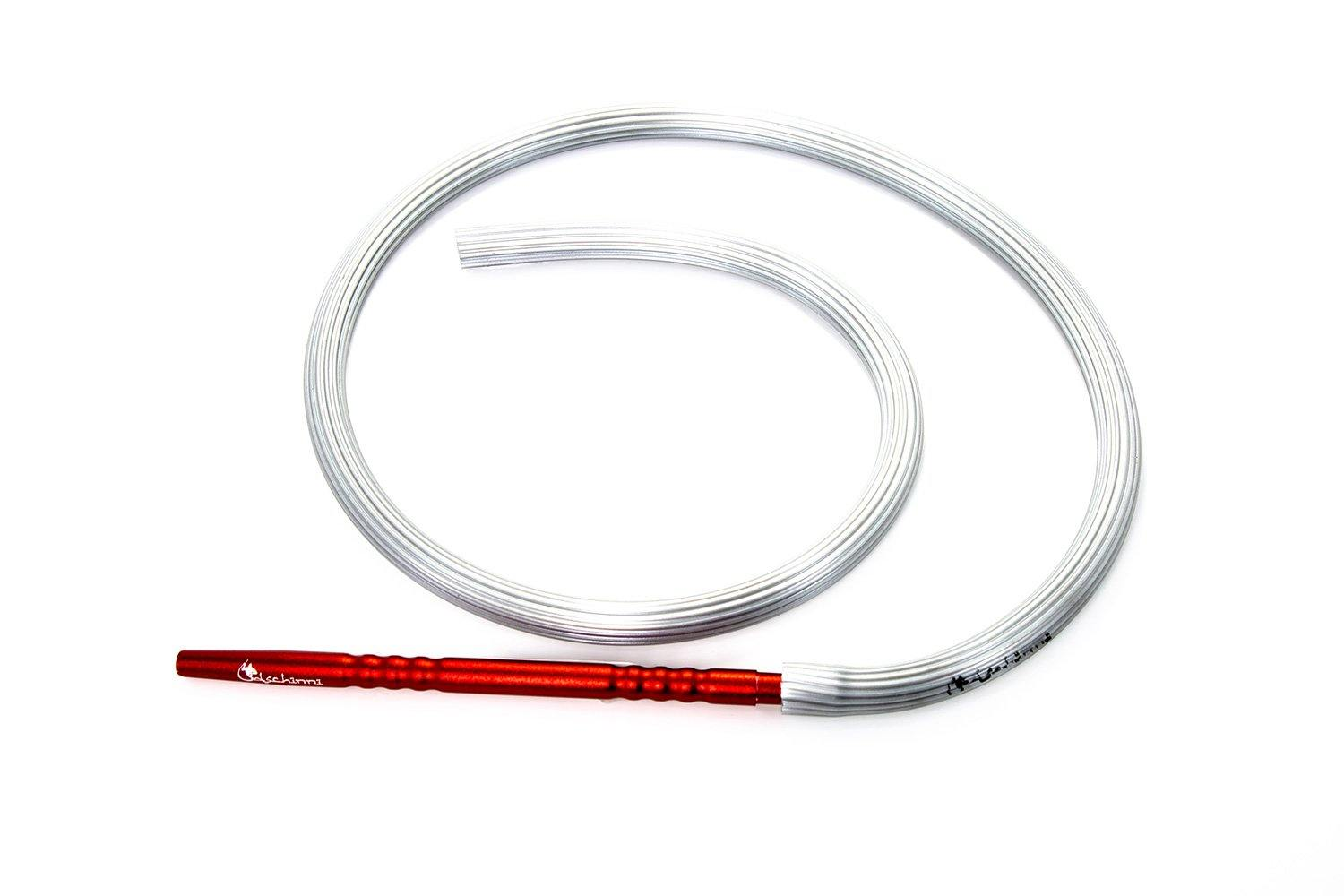Dschinni Candyhose Silver with Aluminium Red Mouthpiece