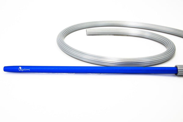 Dschinni Candyhose Silver with Aluminium Mouthpiece Blue