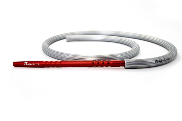 Dschinni Candyhose Silver with Aluminium Mouthpiece Red