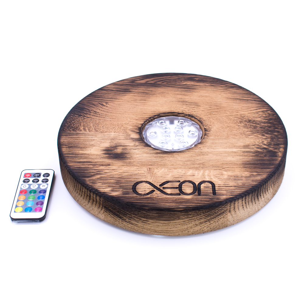 Aeon x Shisha LED Board - Flambeed oak - shishagear - UK