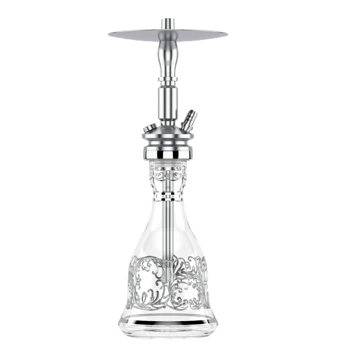 Mig Air Force S Shisha Deluxe Classic  - Silver - shishagear - UK