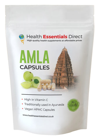 Amla Capsules (Indian GooseBerry, Natural Vitamin C)