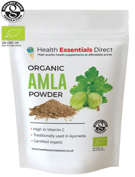 Organic Amla Powder (Indian Gooseberry, Natural Vitamin C, Hair)