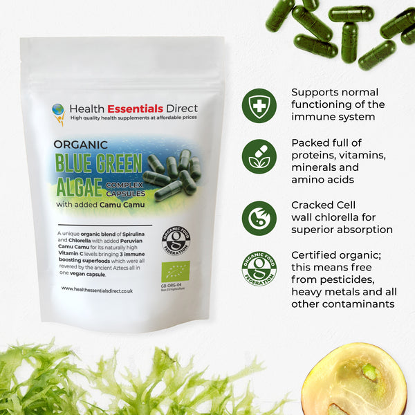 organic blue green algae