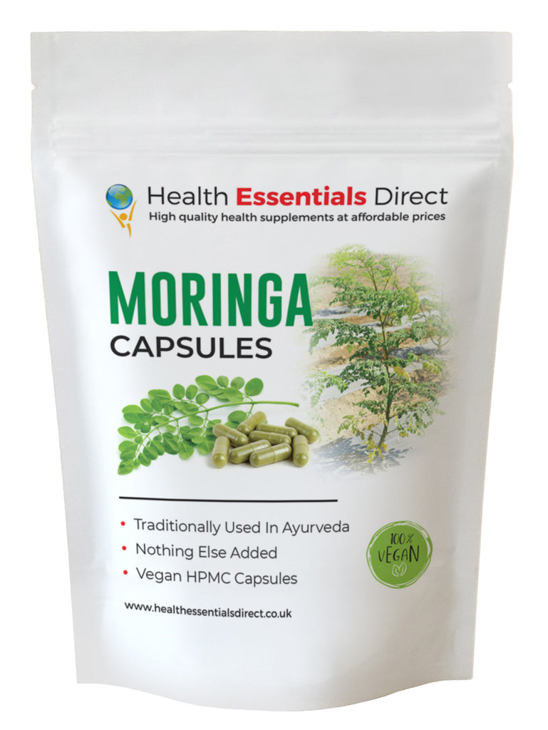 Moringa Capsules 500mg (Strong & Effective, Natures Multi-Vitamin)